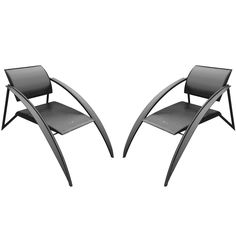 Pair of Architectural Italian Armchairs   From a unique collection of antique and modern armchairs at http://www.1stdibs.com/furniture/seating/armchairs/