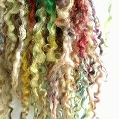 Long lustrous Teeswater locks by Clovetree - Fairy Forest hints of magic and dappled light. Spinning Yarn, Hand Spinning, Dappled Light, Forest Fairy, Waldorf Dolls, Doll Hair, Belleza Natural, Sheep Wool, Locks