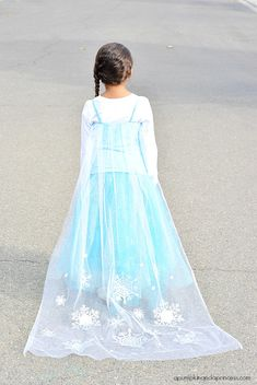 DIY Disney Elsa Costume - A Pumpkin And A Princess