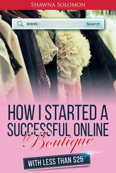 How i started a successful online boutique
