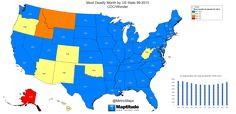 Most deadly month by U. United States Map, U.s. States, State Map, Social Studies, Maps, Blue Prints, Map Of Usa, Usa, Map