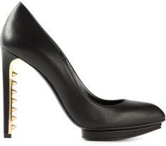 Alexander Mcqueen Studded Pumps in Black #heels #shoes