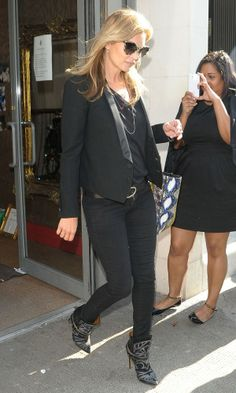 Kate Moss wearing Isabel Marant boots in London