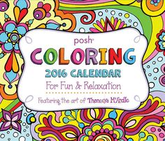 Posh Day-to-Day Coloring Calendar by Thaneeya McArdle