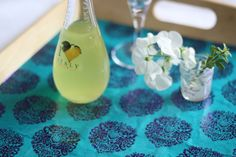 Glam up a Serving Tray with Decoupage