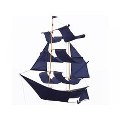 Segelschiff Drachen / indigo