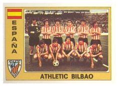 Equipo del Athletic Club de Bilbao. Temporada 1976-77. Cromos Panini Euro Fútbol 77.