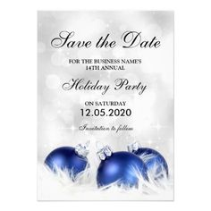 Christmas And Holiday Party Save The Date Cards