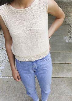 Knitting Kit Pima Cotton Tee La Tank
