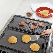 Seasoned Reversible Skillet Stove Top BBQ Grill Griddle Pan Cast Iron Camping