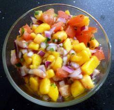 Mango Peach Salsa by Kimberly @ Foodie City Mom