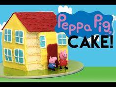 Peppa Pig CAKE | How to Make a Peppa Pig House Cake | My Cupcke Addiction - YouTube
