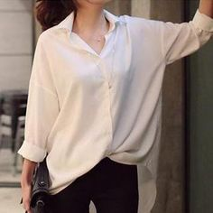 Buy 'Jolly Club – Long-Sleeve Loose-Fit Blouse' with Free International Shipping at YesStyle.com. Browse and shop for thousands of Asian fashion items from China and more!
