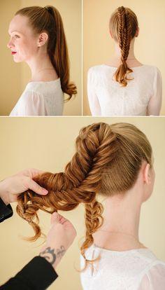 Modern fishtail braid   Hair by Heather Chapman   Photo by K. Mari Photography   Read more - http://www.100layercake.com/blog/?p=66648