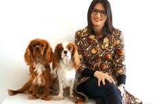 Escritora L.C. LAVADO e os seus cães Booze e Peanut