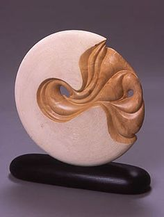 "*Wood Sculpture - ""Undercurrent"" by Betty Scarpino"