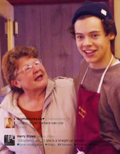 """Hahaha ohhh Barbara! (The one who used to pinch Harry's butt on the side)>> I love how he says """"Barbara!"""" In the preview"""