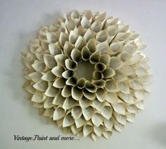 Another book page wreath.