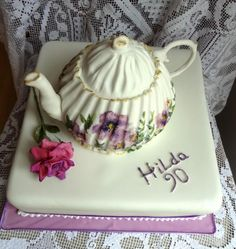 90th Teapot Cake by Fifi's Cakes