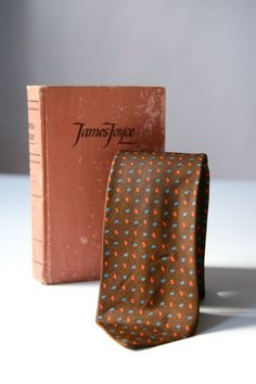 Liberty of London NeckTie & James Joyce Book by PomegranateVintage, $64.99