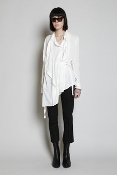 Ann Demeulemeester Victor Double Front Shirt (White)
