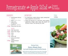 Pomegranate and apple salad