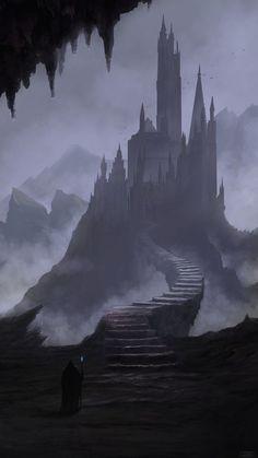 New dark fantasy landscape castles concept art 29 ideas Dark Fantasy Art, Fantasy Artwork, Foto Fantasy, Fantasy Concept Art, Fantasy Art Landscapes, Fantasy City, Fantasy Castle, Fantasy Places, Fantasy World