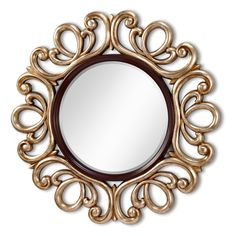 Courtney Mahogany & Antique Silver Mirror - 48 diam. in. - About FeissFormerly known as Murray Feiss, the Feiss company prides itself as the foremost designer and manufacturer of interior and exterior ligh...