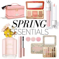 🌼🌸Spring Beauty Essentials 🌸🌼 by susufaerie on Polyvore featuring polyvore, beauty, Too Faced Cosmetics, Marc Jacobs, Victoria's Secret and Deborah Lippmann