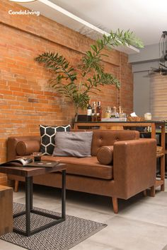 Take a look how the design duo of Oasis Interiors transformed this two-bedroom unit in Taguig into a raw, industrial bachelor pad. Outdoor Furniture Sets, Outdoor Decor, Two Bedroom, Industrial Style, Man Cave, The Unit, Couch, Interior, Design