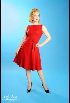 Heartbreaker Monique Dress in Red at Pinup Girl Clothing.