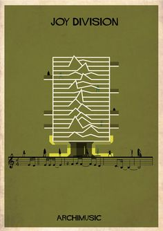 Joy Division - Band inspired poster design by Federico Babina. Idea for walking foot quilting.