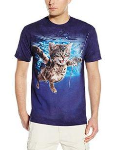 The Mountain Men's Never Mice T-Shirt, Blue/Purple, Small