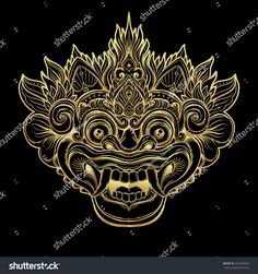 Hindu ethnic symbol tattoo art yoga Bali spiritual design for print posters t-shirts textiles. Hanuman Tattoo, Mask Tattoo, Tattoo Art, Balinese Tattoo, Tibetan Tattoo, Khmer Tattoo, Thailand Art, Outline Illustration, Tattoos