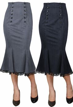 Double Button Up Skirt by Amber Middaugh