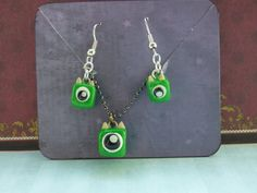 Cyclops set by KirstensEmporium on Etsy Cyclops, Polymer Clay, Drop Earrings, Gifts, Stuff To Buy, Etsy, Jewelry, Products, Fimo