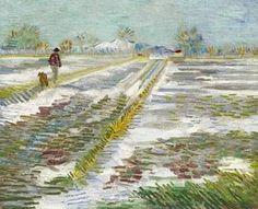""". Vincent Van Gogh (1853-1890) """"Paysage enneigé"""""""