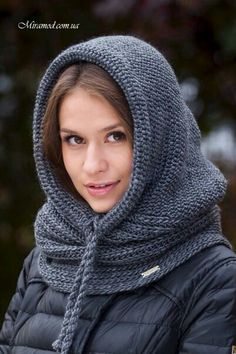 Erkekler İçin Hem Boyunluk Hem Kar Beresi - This AmazingThis post was discovered by ÖzKnitting patterns Cat Hooded C Crochet Hooded Scarf, Crochet Shawl, Knit Crochet, Loom Knitting, Free Knitting, Knitting Patterns, Crochet Patterns, Snood Scarf, Crochet For Beginners