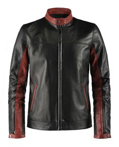 """Crusader - The most accurate Dark Knight replica jacket you will find is made of the finest rich Italian leather. Don't accept a cheap """"world's best cowhide/lambskin leather"""" substitute. You get what you pay for in this this world, and when it comes to a jacket worn by a millionaire playboy, you don't want to skimp."""