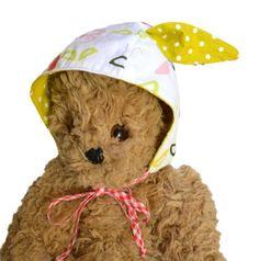 Baby or Child Bonnet w/ Bunny Rabbit Ears   Birdies   Milk Tooth #baby #newbaby #babybonnet #rabbit #bunny #babyhat #bonnet #babygift