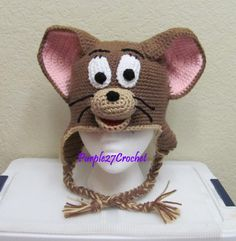 Crochet Jerry the Mouse Hat (PDF) - via @Craftsy