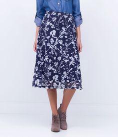 Saia feminina      Modelo midi      Estampada      Marca: Marfinno      Tecido: malha      Composição: 92% poliéster e 8% elastano       Composiçã do forro 100% poliéster      Modelo veste tamanho: P           COLEÇÃO INVERNO 2016         Veja outras opções de    saias femininas.