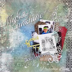 A project for 2Crafty Chipboards. Check out my blog link for more details.  Thanks in advance. http://growingwithgabriel.blogspot.sg/2016/04/hello-my-sunshine-project-for-2crafty.html #scrapbook #2craftychipboards #canvascorp #tatteredangels