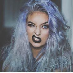 Makeup and hair color Coloured Hair, Cool Hair Color, Hair Colors, Mermaid Hair, Rainbow Hair, Hair Art, Pretty Hairstyles, Hair Goals, Dyed Hair