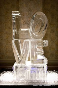 Ice sculptures can be created to a spectacular design for your #reception. www.SterlingBallroomEvents.com Photograph by Jason Rhee Photography, LLC. #pinparty
