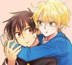 kyo kara maoh Yuri and Wolfram Cute Anime Boy, Anime Love, Kyo Kara Maoh, Hakkenden, Shounen Ai, Manga, Me Me Me Anime, Anime Couples, Yuri