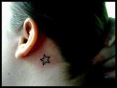 star ear tattoo