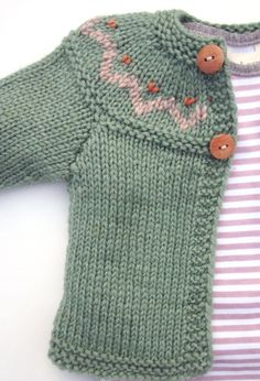 Cute baby cardigan baby cardigan with yoke etsy shop., I wish to have this cCute baby cardigan, Modry pre chlapca by bol zlatý, Cute baby cimage of hand knitted unisex baby cardigan wool amp silk orange - PIPicStatsRound yoke in garter with braided Knitting For Kids, Baby Knitting Patterns, Baby Patterns, Free Knitting, Knitting Projects, Knitting Needles, Crochet Projects, Baby Cardigan, Cardigan Pattern