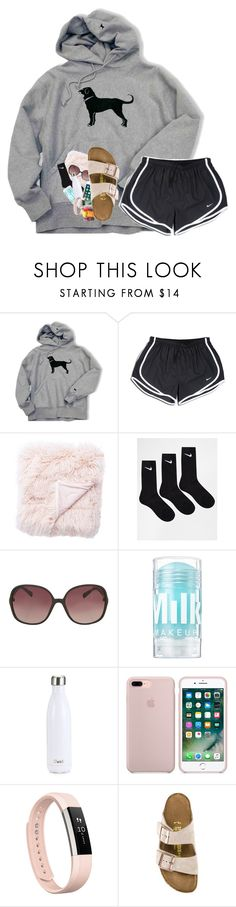 """day 7 / mmadsssummervacay2017"" by artsydoglovergabs ❤ liked on Polyvore featuring NIKE, Jaipur, Topshop, S'well, Fitbit, Birkenstock and mmadsssummervacay2017"