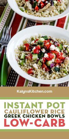 Cauliflower Recipes, Cauliflower Rice, My Favorite Food, Favorite Recipes, Low Carb Recipes, Healthy Recipes, Greek Seasoning, Greek Chicken, Greek Salad